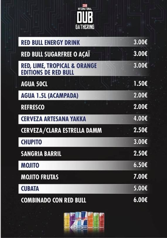 IDG 2018 Drinks Prices